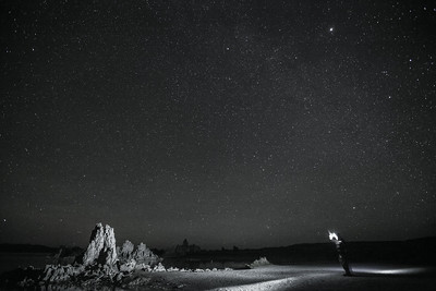 Light Painting at Mono Lake