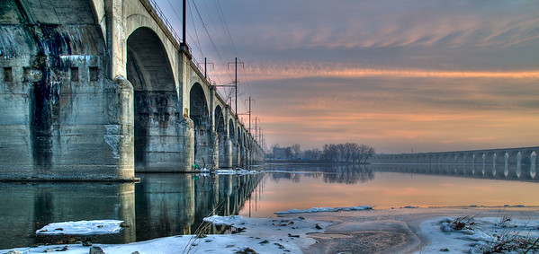 Philadelphia & Reading Railroad Bridge in Harrisburg, Pennsylvania,