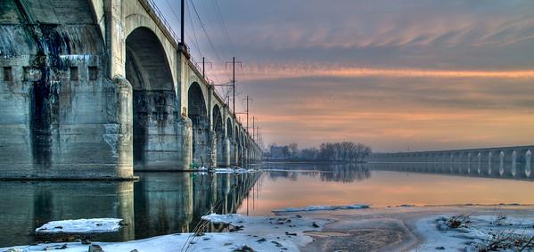 Philadelphia & Reading Railroad Bridge in Harrisburg, Pennsylvania,