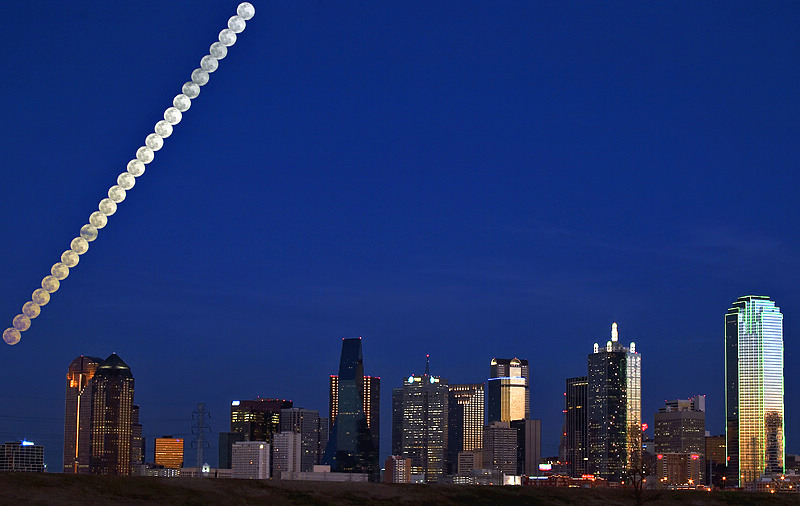 """Dallas Texas - Moon over Dallas <BR><BR>Want to buy a print of this image?  Click <a href=""""http://www.langfordphotography.com/For-Sale/Fine-Art/353198_rD3R59#!i=52036697&k=KBp2L"""">Here</a>!"""