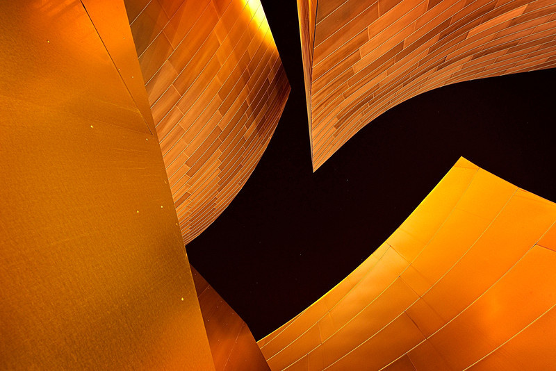Philharmonic #2<br />  <br /> Shapes & textures play a balance at the amazing Walt Disney Concert Hall in LA
