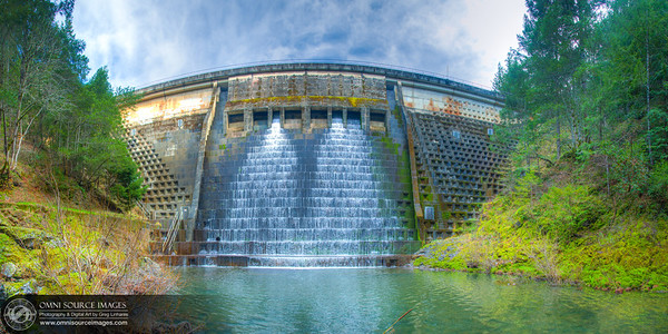 Alpine Lake Dam - Mt. Tamalpias - Super-HD Panorama (10,286 x 5, 1443 pixels/300dpi).