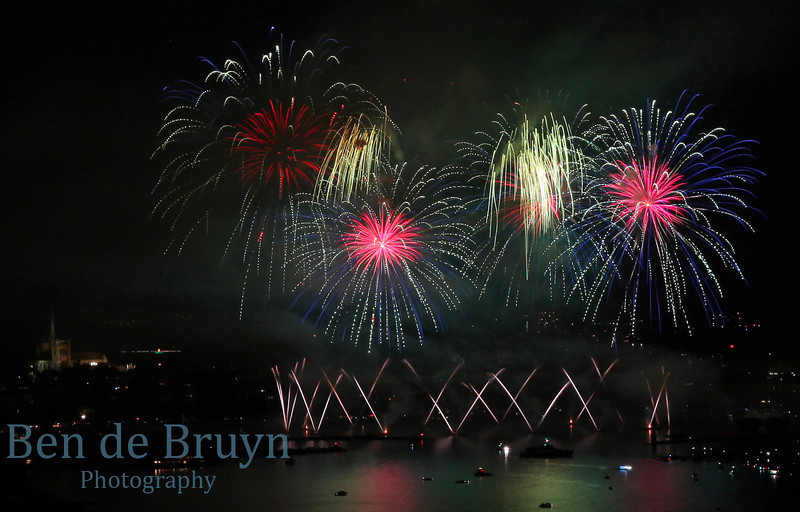 Fireworks at Geneve Aug 2011 View 3