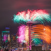 Space needle Fireworks as New year 2017 rings