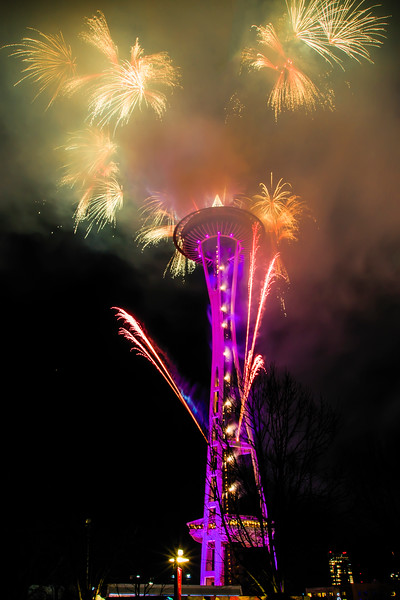 Space Needle - New Year Fireworks