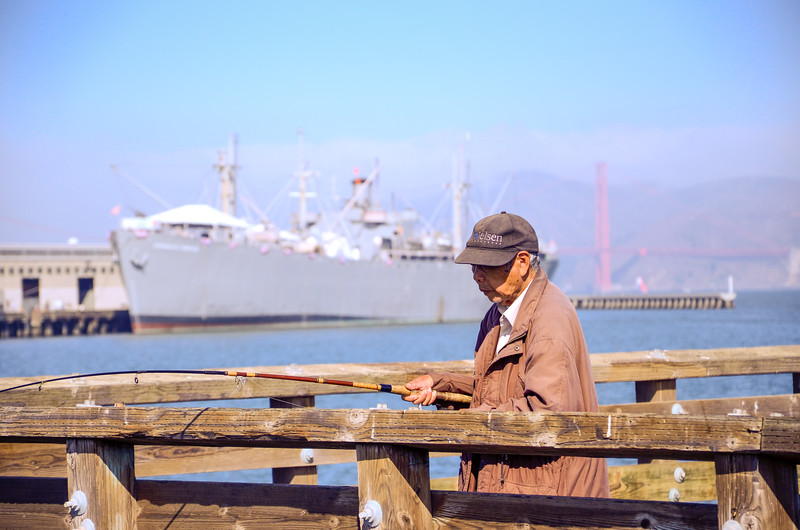 Fisherman at Pier 39