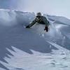Snoboarding in Powder<br /> Snowboarding in fresh powder in Chamonix, France.