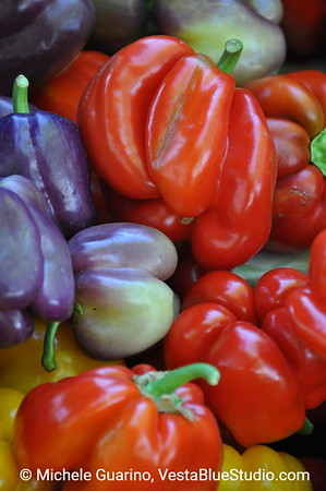 Colorful Peppers Portland Oregon Farmers Market