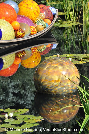 Denver Botanic Gardens Chihuly Exhibit Boat with Glass Balls