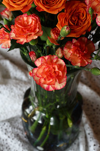 IMG#3340 Carnations and Roses