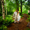Garden Wedding: Bride and Groom