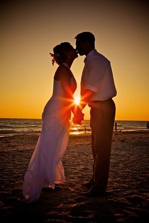 Weddings at Sunset on West Coast of Florida, Tampa Bay.