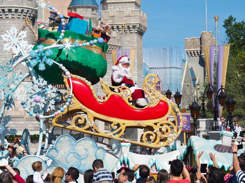 Watching Santa Claus, Disney World - Orlando, Florida