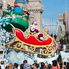 Watching Santa Claus, Disney World - Orlando, Florida