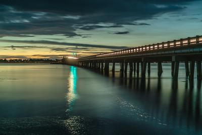 Light Reflecting Off the Bridge