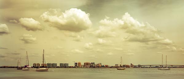 Cityscape Panorama Across Sarasota Bay