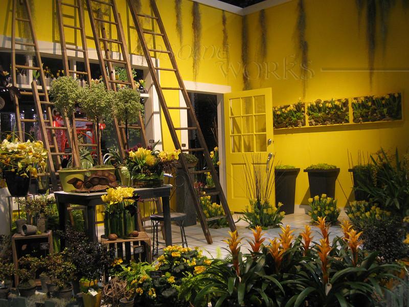 Philadelphia Flower Show 2010 - Yellow room designed by a Dutch flower bulb company