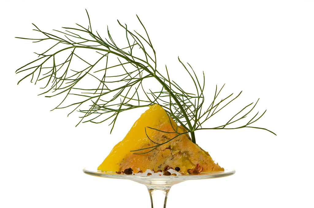 Goose liver with dill