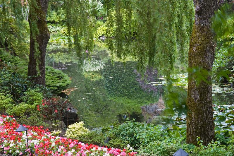 Sunken Garden scene in Butchart Gardens, Victoria, British Columbia