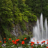 Sunken Garden Fountain in Butchart Gardens, Victoria, British Columbia