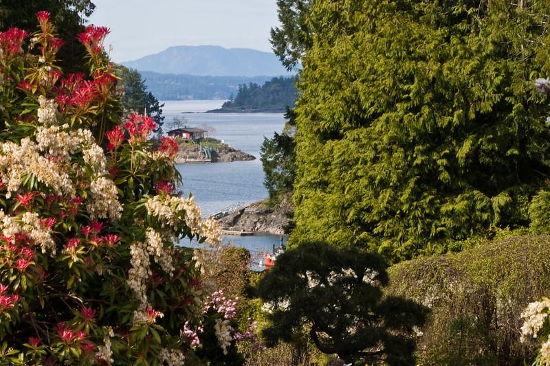 Harbor at Butchart Gardens in Victoria, British Columbia, Canada.