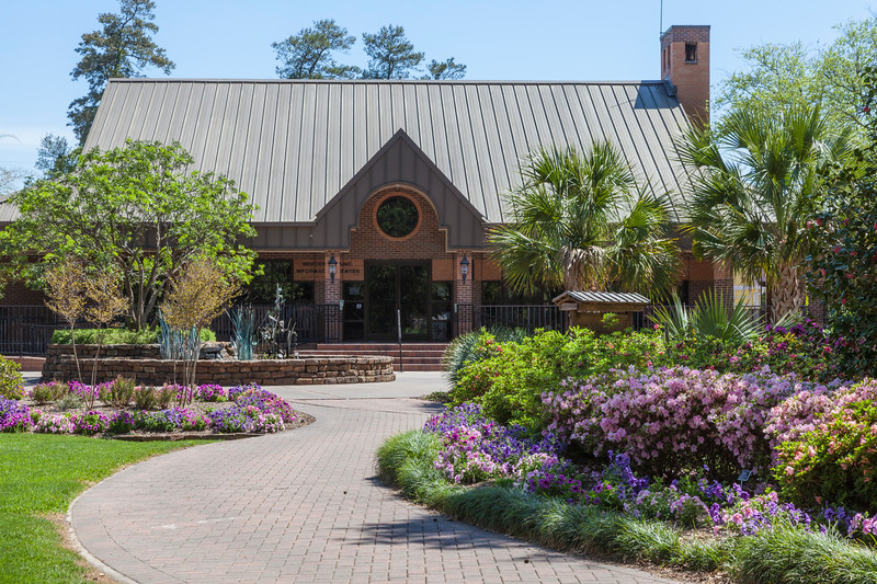 Visitor's Center at Mercer Arboretum and Botanical Gardens in Spring, Texas.