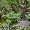 Statue honoring Thelma Mercer at Mercer Arboretum and Botanical Gardens.