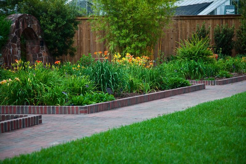 Garden scene at Mercer Arboretum and Botanical Gardens in Spring, TX.