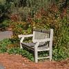 Bench in Norfolk Botanical Gardens in Norfolk, Virginia.