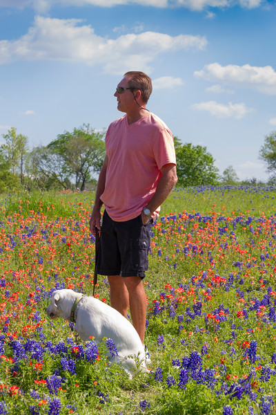 Zoe's first Bluebonnets and Wildflowers outing at Old Baylor College park in Independence, Texas.