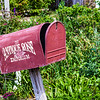 Mailbox at Antique Rose Emporium Gardens in Independence, Texas.