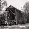 Covered Bridge in Rain