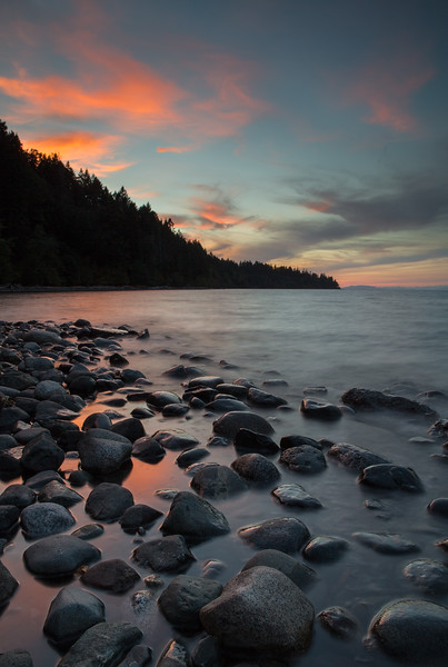 Sunset at Seal Bay Nature Park, Vancouver Island, BC