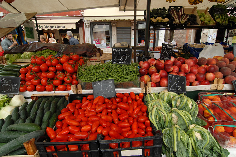 Fresh veggies at Veneziana.