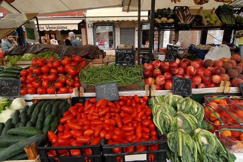 Fresh veggies at Veneziana.