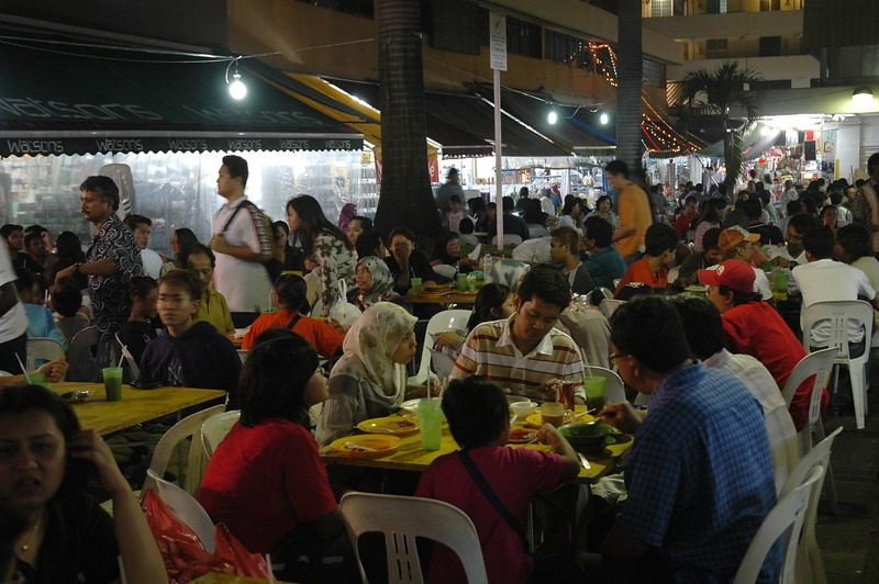Open street food stalls and eatery in Singapore.