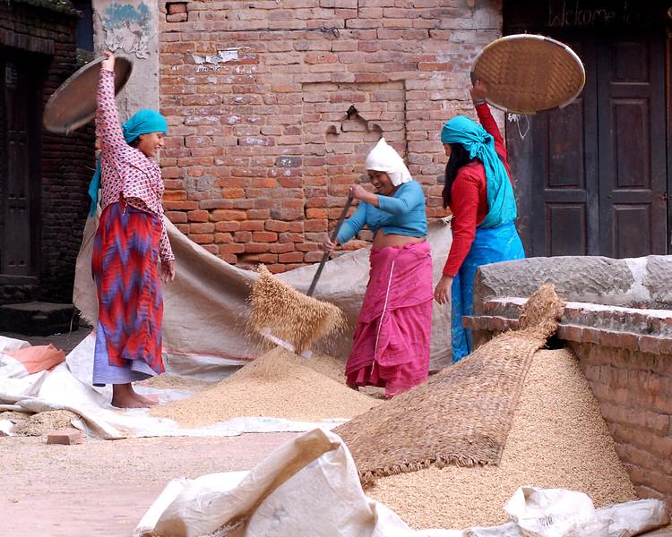 Women in Kathmandu, Nepal
