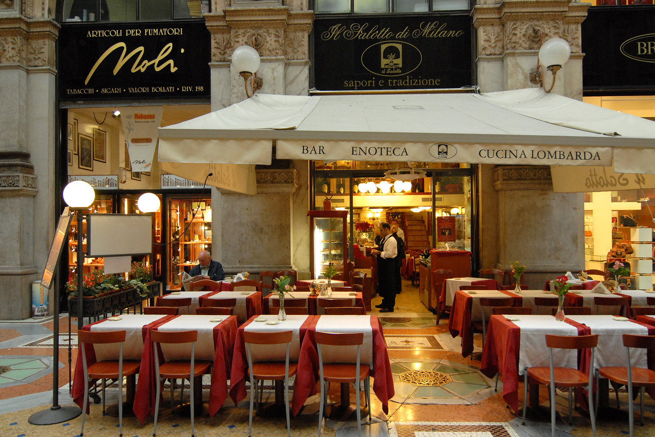 Cafe in Milan, Italy