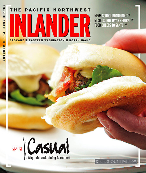 Pacific Northwest Inlander Dining Out issue cover, Spokane, Wash. Issue date: ThursdaOctober 8, 2009. Art Director: Chris Bovey. Photographer: Young Kwak.