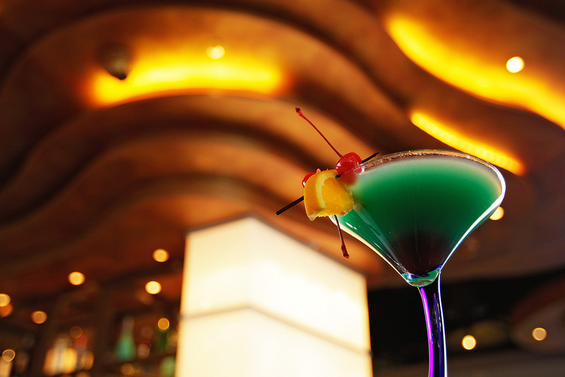 A Blue Lagoon drink is photographed, at Northern Quest Resort & Casino's Liquid, in Airway Heights, on Monday, March 28, 2011. (Young Kwak Special to the Pacific Northwest Inlander)