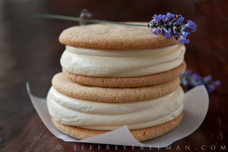 Ruby Jewel ice cream sandwich -  Lemon Cookie + Honey Lavender ice cream