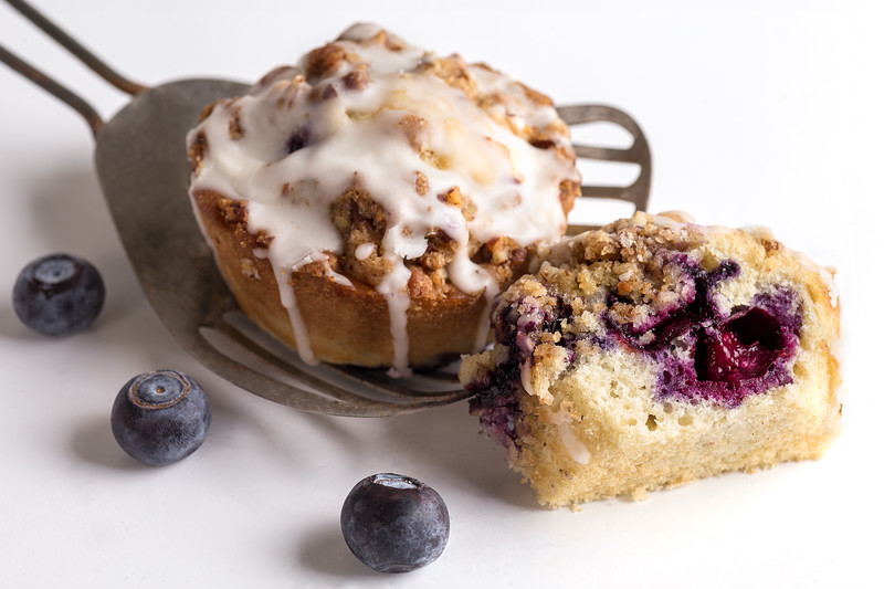 Crunchy Topped Blueberry Muffin
