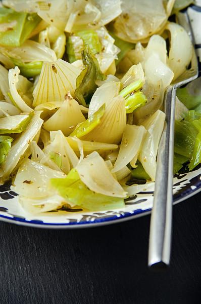 Sicilian Onion and Leek salad