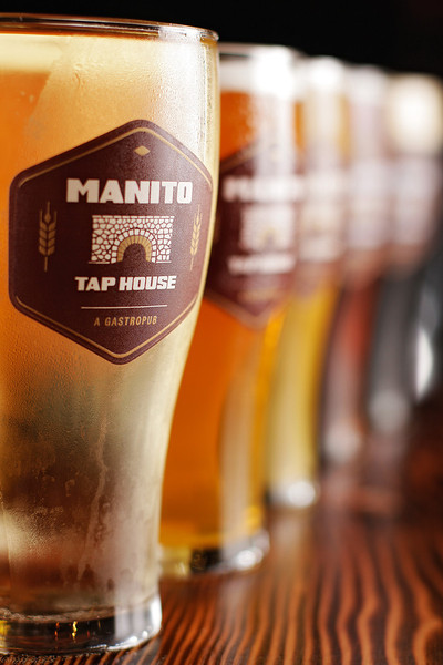 Beers are photographed at Manito Tap House, in Spokane, Wash., on Tuesday, September 27, 2011. (Young Kwak Special to the Pacific Northwest Inlander)