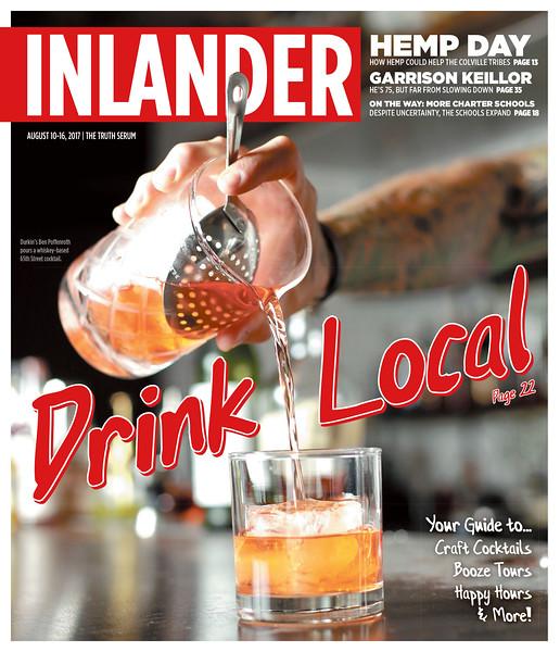 Issue date: Thursday, August 10, 2017. Art Director: Derek Harrison. Photographer: Young Kwak. Partner Ben Poffenroth pours a 65th Street at Durkin's Liquor Bar in Spokane, Wash. on Friday, August 4, 2017.