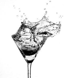 Kiwi Martini in Monochrome