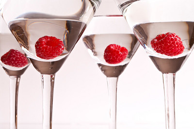 Raspberry Martinis