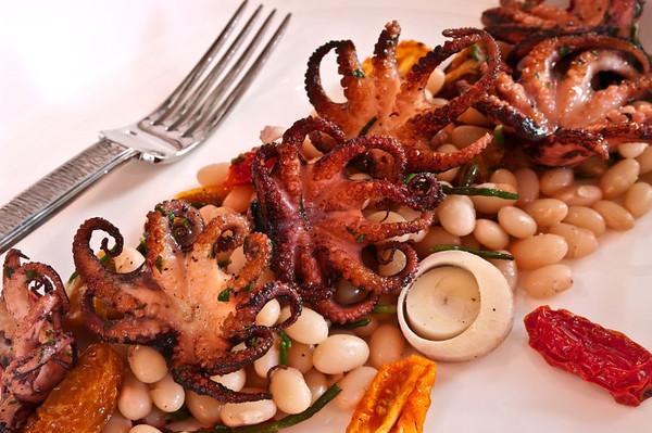 GRACE's seared baby octopus macro.