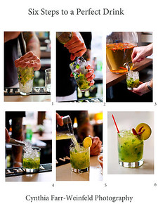 Six Steps to a Perfect Drink This refreshing collage can print as large as you'd like and is more than suitable for gallery matting and framing.  Taken at Sonny's Restaurant, Portland, Maine, of a specialty Mojito called a Jaycito.