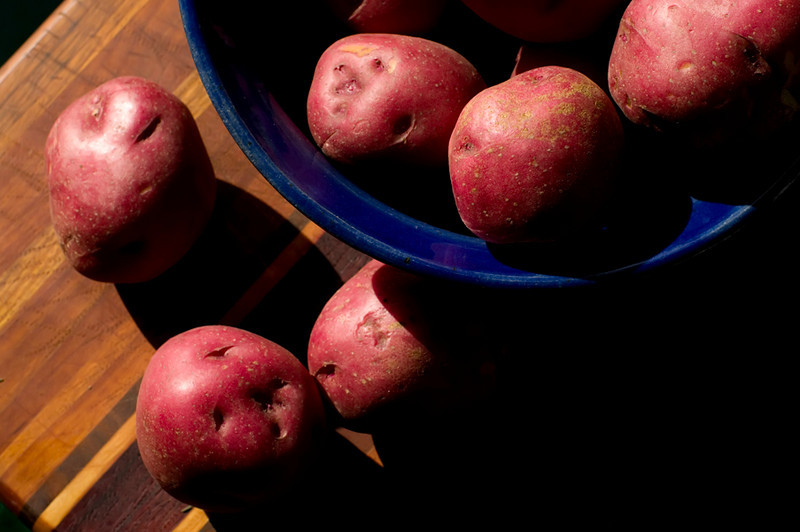 Red Potatoes, Blue Bowl 2<br /> Late afternoon light in the kitchen